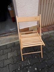4 St Holzstühle klappbar