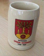 Alter Bierkrug Spork Eichholz 1358 -