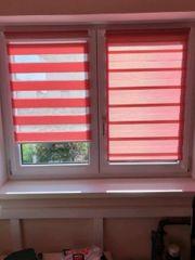 2 Doppelrollos in rot sehr