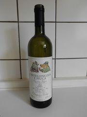 Weinflasche mit lustigem Janosch-Tier-Etikett