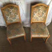 Vintage Stühle Eiche mit Blumenmuster