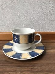 Cafetasse mit Untertasse 5 Stk