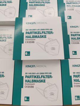 FFP2 Masken CE zertifiziert 6 Stück im Paket