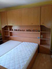 Oberschrank Schlafzimmer mit Bettgestell Hängeschrank