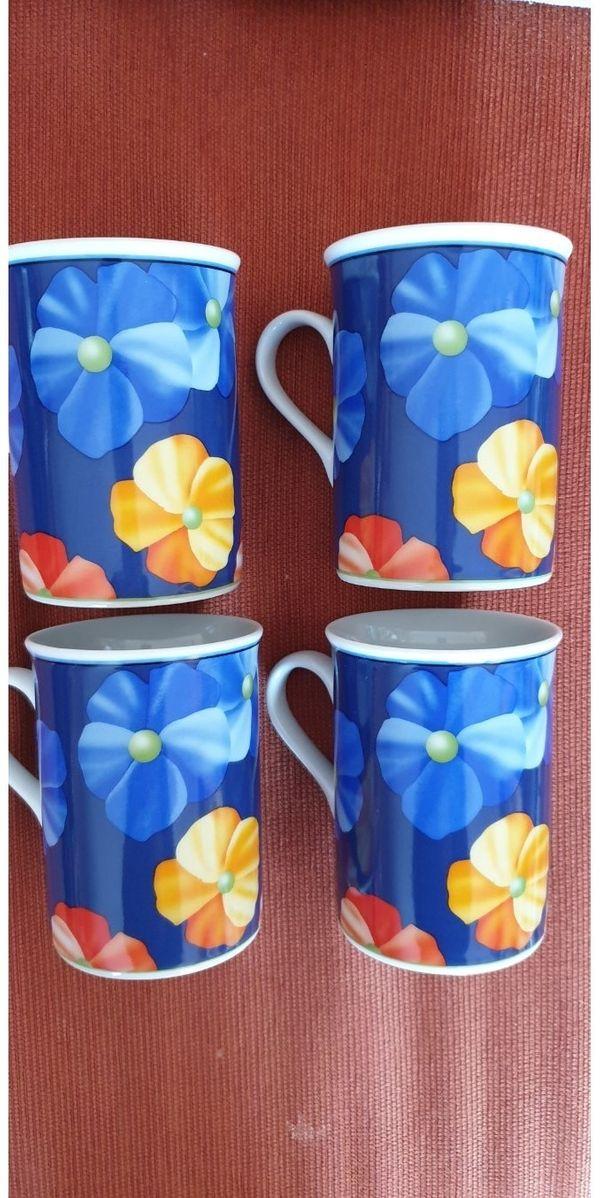 Verschiedene Tassen Sets 2x Cappuccino Weiss 4x Blumen Blau 6x Weisse Tassen 2x Vorhanden 6x Tas In Mainz Geschirr Und Besteck Kaufen Und Verkaufen Uber Private Kleinanzeigen