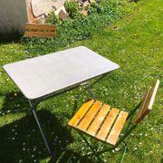 Garten-Sitzgarnitur vintage klappbar