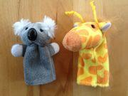 Fingerpuppen Koala Bär und Giraffe