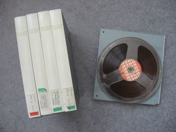 4 BASF Tonbänder auf 18