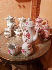 3 Tee Kaffeeservice - alt- Winterling -