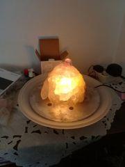 Zimmerbrunnen mit Rosenquarz und Bergkristal