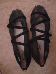 Neue Ballerinas schwarz Leder Gr