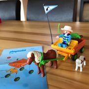 Playmobil 3118 - Kinder Ponywagen gebraucht