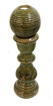 Keramik Säule 52cm mit Kugel