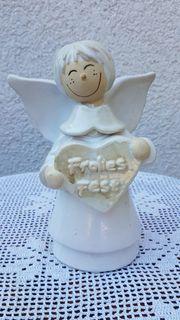 Hochwertiger alter Weihnachtsengel aus Keramik