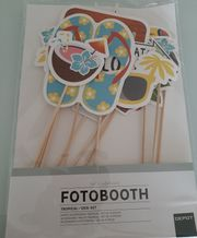 Neu Fotobooth Tropical 12er Set