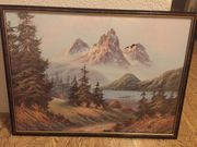 Gemälde Landschaft Berge