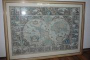 Große alte Weltkarte antike Karte
