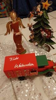 Adventskalender Weihnachtsauto aus Holz