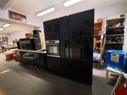 Küchenzeile Hochglanz schwarz mit