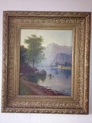 Schönes alpines Gemälde von C