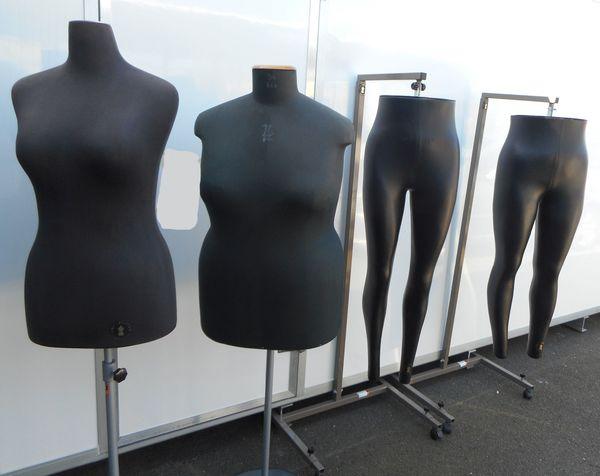 3x Schneiderbüsten - Hosenbüsten - verschiedene Größen -
