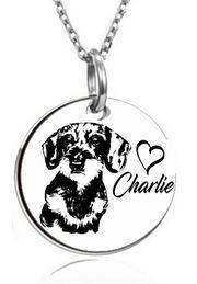 personalisierte Kette Anhänger Dackel-Hund verschiedene