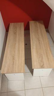 2 Sitzbänke ohne Lehne