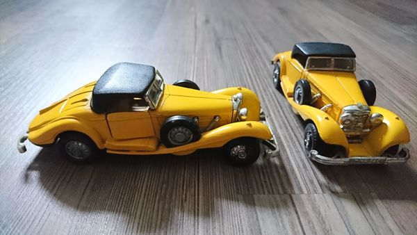2x Mercedes 540K 1936 Maßstab