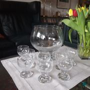 Glas-Bowle-Set mit 8 Gläsern