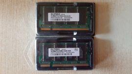 Sonstige Hardware, Zubehör - Arbeitsspeicher ELPIDA 2stück jeweils 512