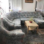 Cauchgarnitur Rundecke mit Sessel