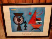 Kandinsky Schöner Kunstdruck mit Rahmen