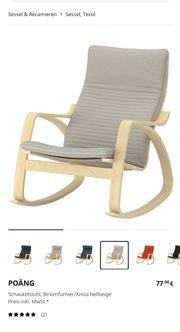 Ikea Schwingstuhl Farbe weiß beage