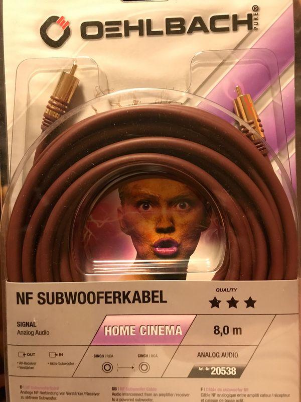 Oehlbach Subwoofer Kabel