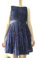 Cocktail- Sommerkleid violett-schwarz