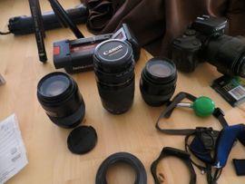 Spiegelreflexkameras mit Zubehör u a: Kleinanzeigen aus Leinfelden-Echterdingen Echterdingen - Rubrik Foto und Zubehör