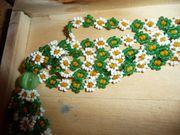 Mehrreihige Blumenhalskette vermutl Original aus