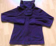 Fleece-Jacke violett Gr S mit