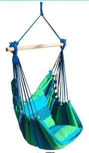 Hängesessel in blau grün