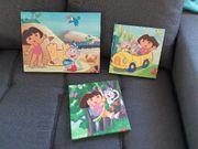 Bilder - Keilrahmen Dora 3er Set