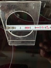 Uhrständer Plexiglas mit 6 cm