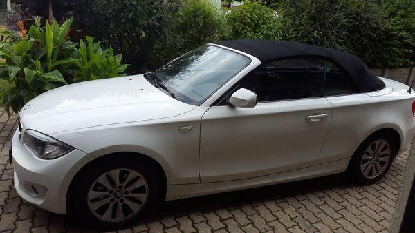 BMW 118d 1-er Cabrio weiß