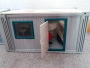 Playmobil Baucontainer mit einer Dixie-Toilette