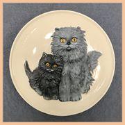Wandteller von Goebel 1975 Katzen