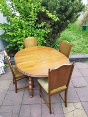 Esstisch Tisch Stühle vintage antik