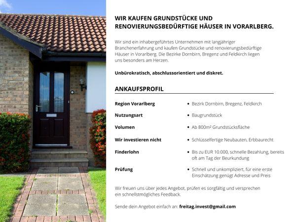 Wir suchen renovierungsbedürftige Häuser im