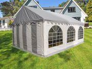 Partyzelt 3x6m Gartenzelt PVC grau