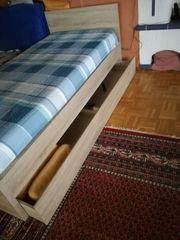 Schubkasten Bett 90x200 cm komplett