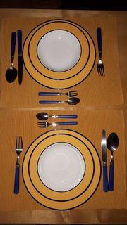 Speisegeschirr für 2 Personen
