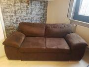 Sofa in braun aus Microfaser
